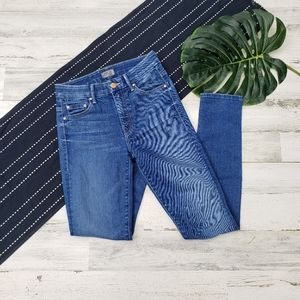Mother  High Waisted Looker Skinny Jeans Size 24